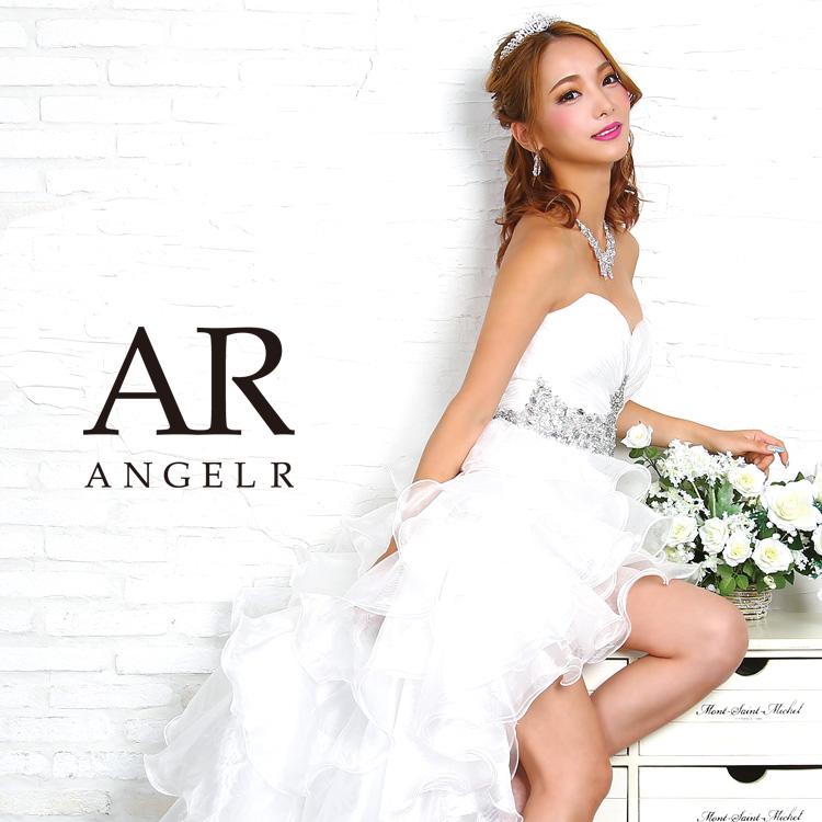 c6576949f3b4a  ハートカットギャザーデザイン前ミニドレス Angel R(エンジェルアール)