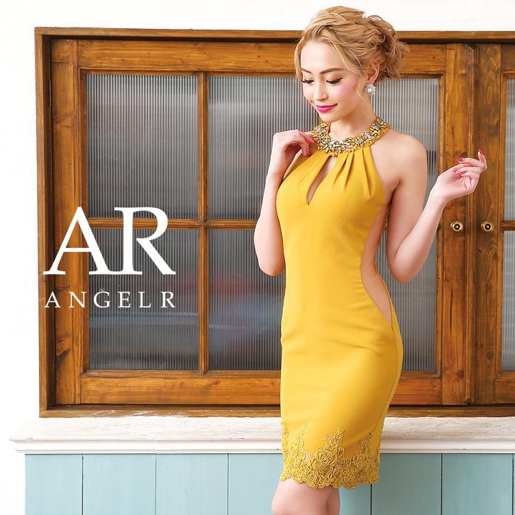 b7162f3c022cb こだわりの贅沢ビジュー ストーン使いでデコルテ部分を飾った女性心をくすぐられるデザインのタイトミニドレス。 裾フラワーレースでスタンダードさの中に愛らしい印象  ...