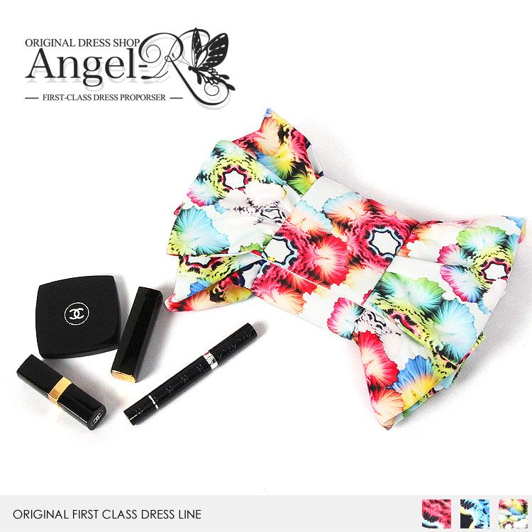 バッグ BAG ハンドバッグ 2way 花柄 フラワー リボン型 小物入れ ドレス フォーマル パーティー 女子会(BG015)